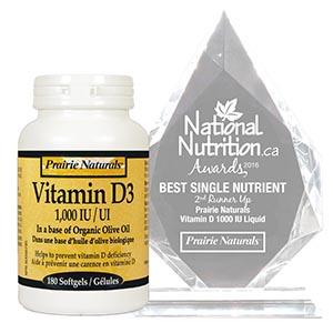 Prairie Naturals – Vitamin D 1000IU